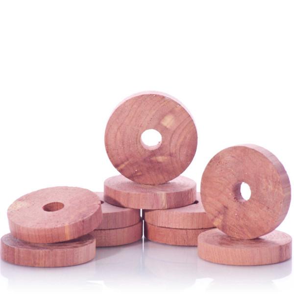 Zedernholz-Kleiderbügelscheiben, 10er-Set
