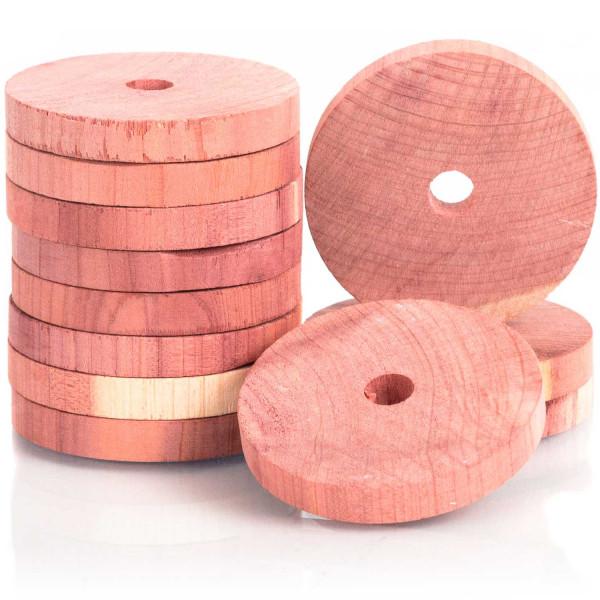 Woodlore Zedernholz-Kleiderbügelscheiben, 12er-Set