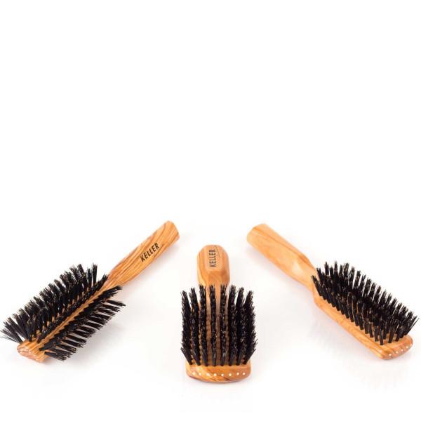 Premium-Haarbürsten Olivenholz Stirneinzug