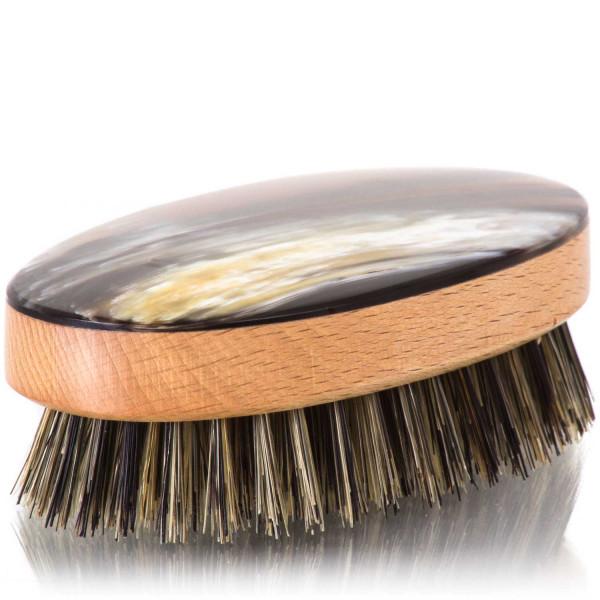 Abbeyhorn Haarbürste mit feiner Hornplatte